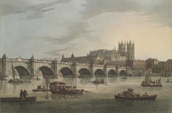 View of Westminster Bridge including Westminster Hall and the Abbey